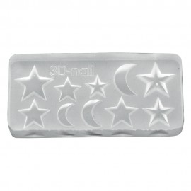 3D Gel Mold Star & Moon