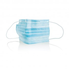 Chirurgisch masker 3 lagen blauw met elastiek (50 st)