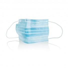 Masque chirurgical 3 couches bleu avec élastique (50 pc)